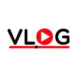 Vlog video blogging concept logo streaming  symbol. Recording  video  symbol Stock Photo