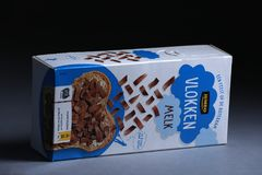 Vlokken, chocoladevlokken, est un écrimage utilisé généralement de sandwich aux Pays-Bas images stock