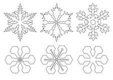Vlokken van sneeuw stock illustratie
