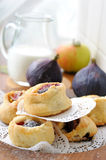 Vlokkig gebakje met fig. Stock Afbeelding