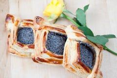 Vlokkige croissant Royalty-vrije Stock Fotografie