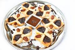 Vlokkige croissant Stock Foto