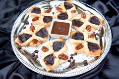Vlokkige croissant met koffie Royalty-vrije Stock Fotografie