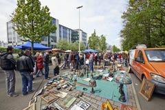 Vlooienmarkt elke eerste dag van Mei in Brussel Royalty-vrije Stock Afbeeldingen