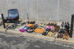 Vlooienmarkt, Feira DA Ladra, Lissabon Stock Fotografie