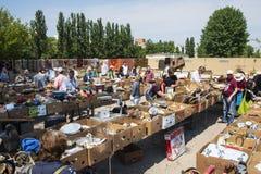 Vlooienmarkt in Mauerpark in Berlijn, Duitsland stock afbeelding