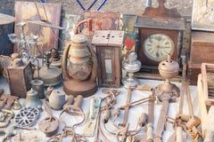 Vlooienmarkt Verkoop van oude dingen royalty-vrije stock foto
