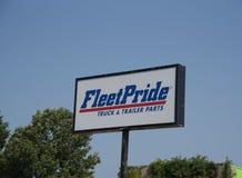 Vloot Pride Truck en Aanhangwagendelen royalty-vrije stock foto's