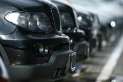 Vloot van auto's royalty-vrije stock afbeelding