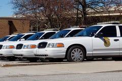 Vloot van auto's van de de Politieafdeling van Indianapolis de Metropolitaanse IMPD heeft jurisdictie in Marion County I royalty-vrije stock foto