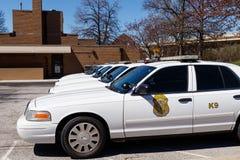 Vloot van auto's van de de Politieafdeling van Indianapolis de Metropolitaanse IMPD heeft jurisdictie in Marion County III stock afbeeldingen