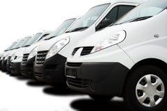 Vloot van bestelwagens Stock Foto