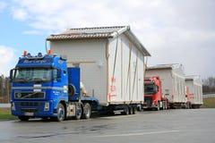 Vloot van het Huismodules van het Vrachtwagensvervoer royalty-vrije stock foto's
