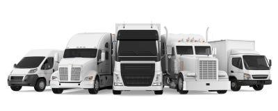 Vloot van Vrachtvervoer royalty-vrije illustratie
