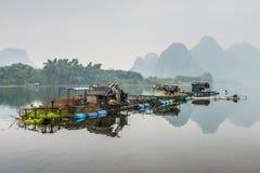 Vlothuis op Li-rivier Royalty-vrije Stock Fotografie