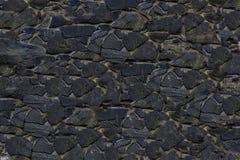 Vlotte canvas van de achtergrond het oude donkergrijze steenlei samengesteld uit tegels Stock Fotografie