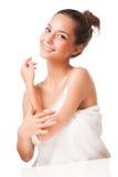 Vlotte donkerbruine schoonheid Royalty-vrije Stock Afbeelding