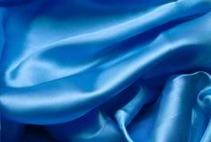 Vlotte elegante donkerblauwe zijde Stock Afbeeldingen