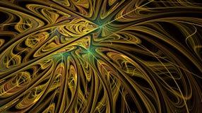 Vlotte gouden Vurige bloesem vector illustratie