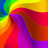 Vlotte kleurengolven. Stock Foto