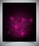 Vlotte kleurrijke abstracte technoachtergrond stock illustratie