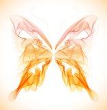 Vlotte kleurrijke abstracte vlinder Stock Afbeeldingen