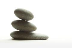 Vlotte stenen op zand Royalty-vrije Stock Foto