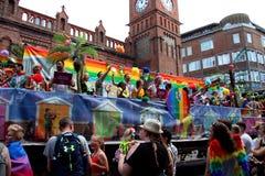Vlotter bij Brighton Pride-parade stock foto
