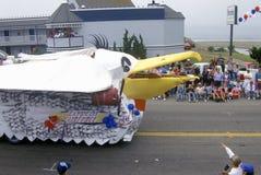 Vlotter in 4 de Parade van Juli, Cayucos, Californië Stock Afbeelding