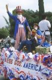 Vlotter in 4 de Parade van Juli, Ojai, Californië Royalty-vrije Stock Afbeelding