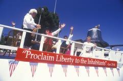 Vlotter in 4 de Parade van Juli, Vreedzame Palissaden, Californië Stock Afbeelding