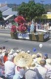 Vlotter in 4 de Parade van Juli, Vreedzame Palissaden, Californië Royalty-vrije Stock Foto