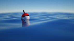 Vlotter die op zee vissen royalty-vrije stock afbeelding