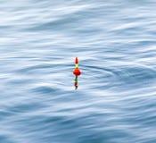 Vlotter voor visserij in water royalty-vrije stock foto
