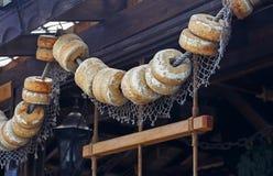 Vlotters van oud visnet stock foto