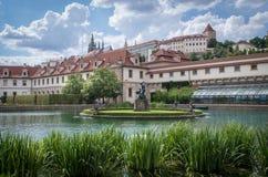 vltava перемещения реки prague фото европы замока старое Стоковое Фото