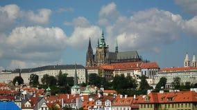 vltava перемещения реки prague фото европы замока старое Стоковая Фотография