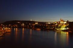 vltava перемещения реки prague фото европы замока старое Стоковые Фотографии RF