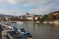 vltava перемещения реки prague фото европы замока старое Стоковые Изображения