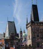 vltava перемещения реки prague фото европы замока старое Стоковое фото RF