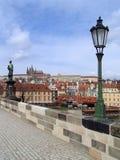 vltava реки prague замока готское Стоковое фото RF