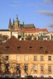 vltava реки prague замока цветастое готское Стоковое Фото