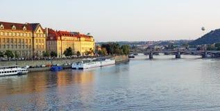 Vltava em Praga Imagens de Stock