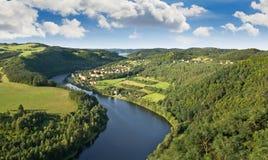 Vltava Fluss Stockfotos