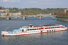 Vltava Fluss in Prag stockbild