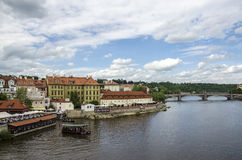 Vltava Fluss in Prag, Tschechische Republik Stockfotos