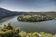 Vltava Meander Stock Image