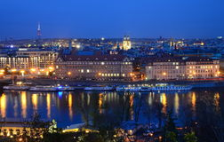Vltava in night Stock Photos