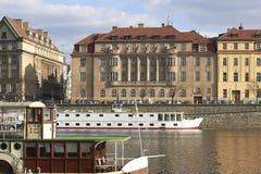 Vltava in Praag Royalty-vrije Stock Afbeelding