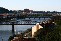 Vltava a Praga Fotografia Stock Libera da Diritti